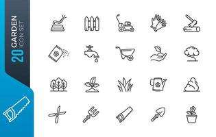 minimale tuin icon set