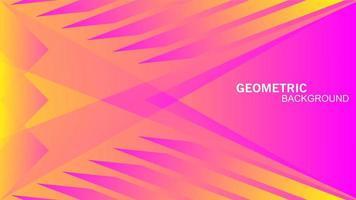 naadloze geometrische driehoeken in geel roze kleur abstract