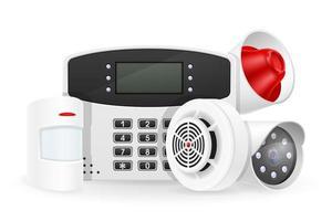 huisbeveiligingssysteem set objecten vector
