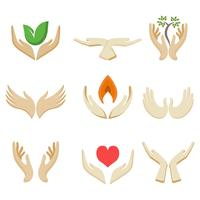 Gratis liefdadigheid handen sjabloon Logo Vector