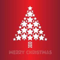 illustratie van sterren die een kerstboom vormen