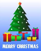 kerstboom afbeelding ontwerp en geschenkverpakking