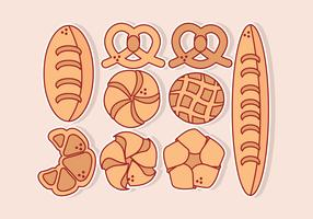 Vector verscheidenheid van brood