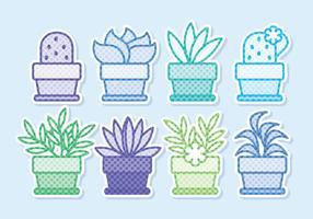 Vector ingemaakte bloemen Sticker collectie