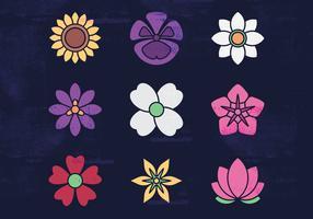 Bloemen vector iconen