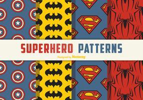 Superheld naadloze vector patronen
