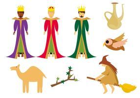 Gratis traditie van Italiaanse Epiphany iconen Vector