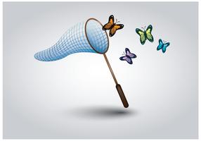 Gratis vlinder net vector