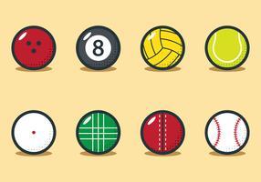 Sportbal Set vector