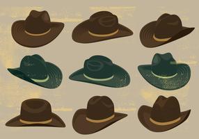 Cowboy hoeden pictogrammen vector