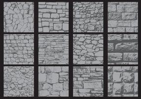 Onregelmatige muurtexturen vector