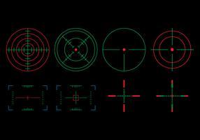 Target-set bekijken vector
