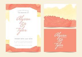 GEËNSCENEERD VOOR VD Vector Wedding Invite