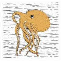 Hand getrokken Vector Octopus illustratie