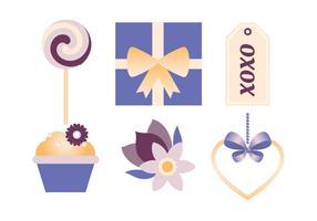 Vector Valentijnsdag elementen