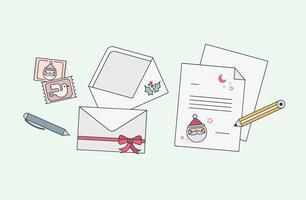 Brief aan Santa Vector