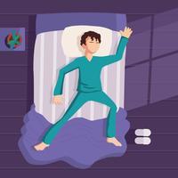 Gratis illustratie voor het slapengaan vector