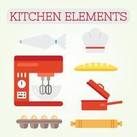 Keuken elementen Vector