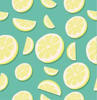 naadloze patroon van plakjes citroen
