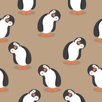 naadloze patroon van schattige pinguïns
