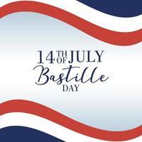 Bastille-dagviering met Franse vlag vector