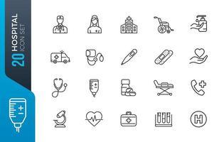 minimale ziekenhuis icon set