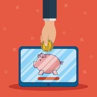technologie voor online bankieren met tablet