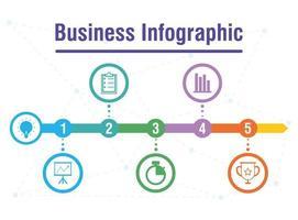 zakelijke infographic met circulaire pictogrammen vector