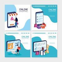 online winkelen en e-commerce-bannerset