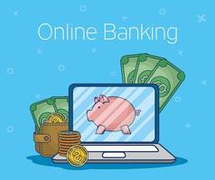 technologie voor online bankieren met laptop