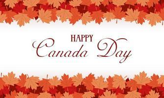 happy canada day viering banner met esdoornbladeren