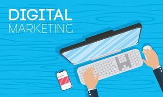 banner voor digitale marketing en sociale media vector