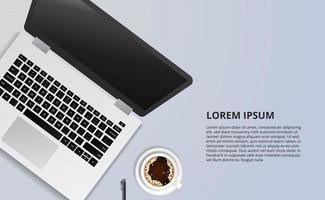 illustratie voor business concept freelance werkbureau