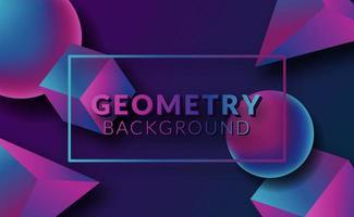 moderne abstracte 3d geometrische neonachtergrond vector