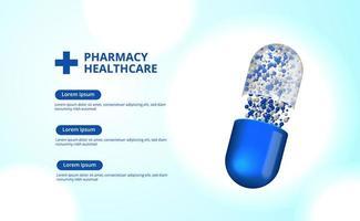 3d apotheek pillen capsule geneeskunde gezondheidszorg