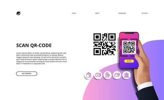 qr-code voor financiële online betaling