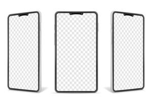 realistische smartphone lege mock-up set vector