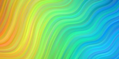 lichtblauw, geel sjabloon met wrange lijnen.