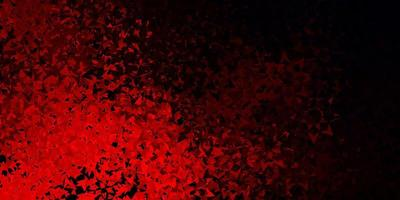 rode lay-out met lijnen, driehoeken. vector