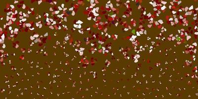 rode sjabloon met abstracte vormen.