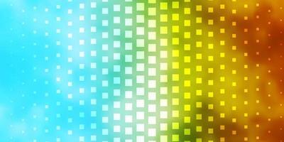 lichtblauw, geel sjabloon in rechthoeken.
