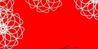 rode natuurlijke lay-out met bloemen.