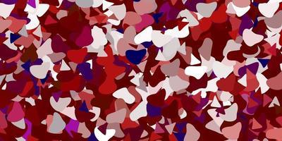 rode achtergrond met chaotische vormen.