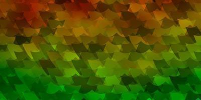 groen, geel sjabloon met rechthoeken. vector