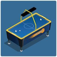 Air hockey tafel vector