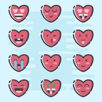 dag van de Valentijnskaart emoticon vector