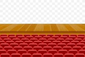 theaterpodium met zitplaatsen voor toeschouwers