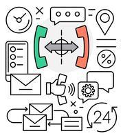 Gratis pictogrammen voor callcenters vector