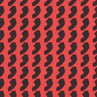 hand getekend rood en zwart gekleurd abstract vormpatroon