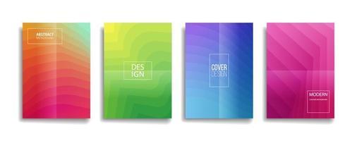 heldere kleurovergang kleur abstracte lijnpatroon omslagontwerpen